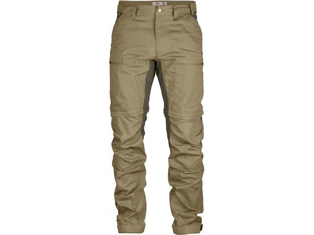Fjällräven Abisko Lite Trekking Pantalones Zip-Off Hombre, sand-tarmac